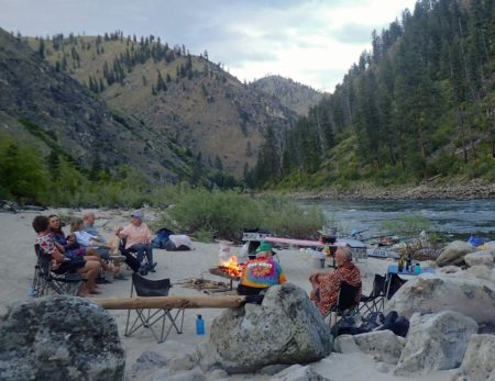 camping on a Salmon River trip