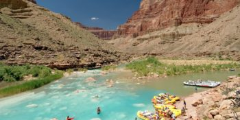 Best Grand Canyon Motor and oar rafts at the Little Colorado River